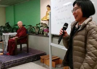Ven. Chodron speaks at Buddhist Library Sydney.