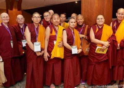 About 27 nuns practicing in the Tibetan tradition—from India, Nepal, Bhutan, Australia, and the U.S., and probably more—attended.