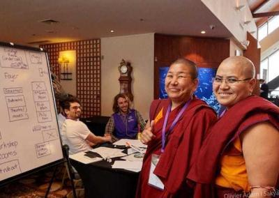 Geshemas Dawa Choezom and Tenzin Chopa Lhadron have both visited the Abbey.