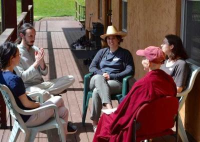 Every Sharing the Dharma Day includes a discussion group, which the young adults join as well.