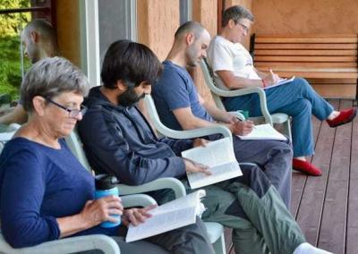 Participants take time for personal study and reflection on the teachings.