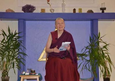 Ven. Sangye Khadro shares a meditation and a short teaching on transforming the mind at the Gardenia Center in Sandpoint, Idaho.