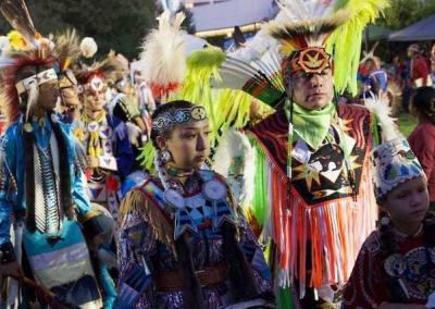 """This is the 28th annual Gathering at the Falls Pow Wow on the Spokane River, a sacred tradition where many tribes from around the Northwest gather by the water """"because it gives life, love, hope, and a sense of revitalization."""""""