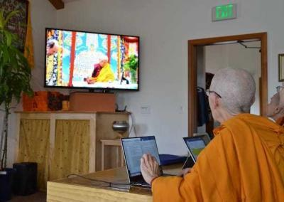 Geshe-la is teaching by Live Stream due to his age—90 years!