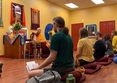 Ven. Semkye teaches a group of eager students at the Tara Center in Nashville, TN.