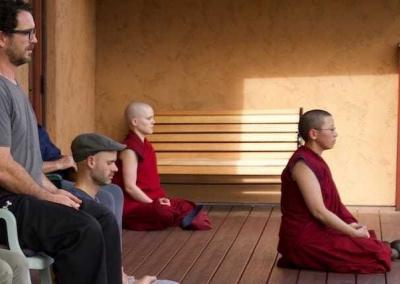 After each walking session, we do 20 minutes of concentration meditation.