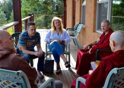 Group discussion after Ven. Chodron's teaching on gratitude.