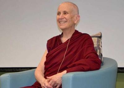 """Ven. Chodron teaches at North Idaho College (NIC) on """"Connecting with Integrity."""""""