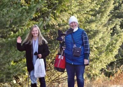 Natalie and Tracy arrive together from Sandpoint and Newport to attend the teachings.
