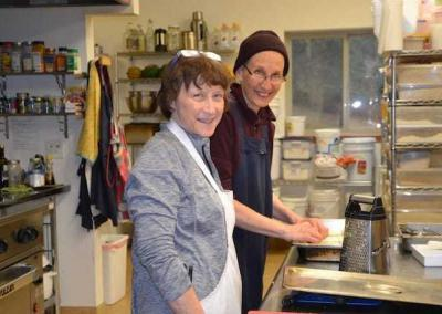 Ven. Tsepal and her sister Leisa, team up to cook a yummy lunch.