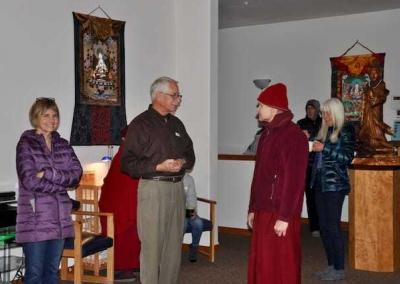 Ven. Losang welcomes new and long-term Dharma students.