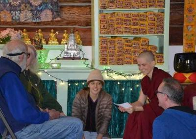 After the Dharma talk, we divide into small groups to discuss the teaching in a structured way.