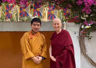 Ven. Chodron rejoices in the opportunity to connect with Serkong Rinpoche, whose previous life was one of her root teachers.