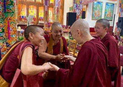 Ven. Chodron thanks the two geshemas who presented papers at the conference and encourages them in continuing teaching.