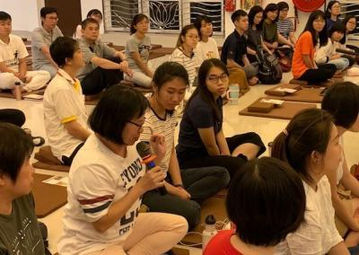 The 30-plus participants in the weekend retreat at Butterworth Lay Buddhist Society listened sincerely and asked many good questions.