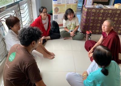 """Ven. Damcho joins the Chinese language discussion group to explore what is """"mine."""""""