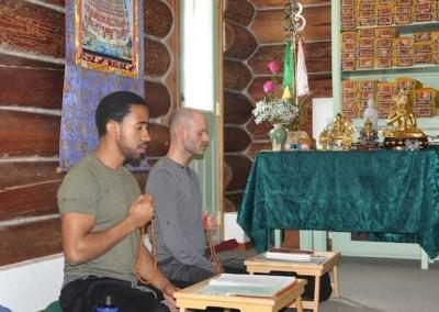 Anthony and Stephen recite the mantra of compassion.
