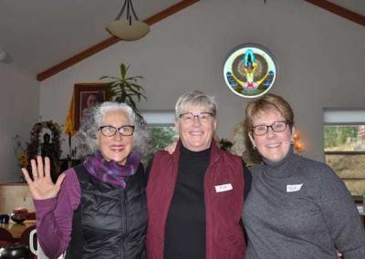 Dharma friends enjoy the day at the Abbey