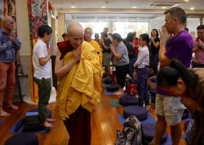 Ven. Chodron also gives talks and leads a retreat at Amitabha Buddhist Centre (ABC).
