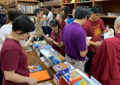 FOSA-S in gear again at the Buddhist Library.
