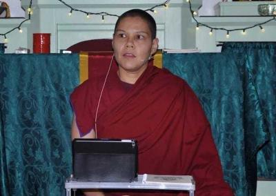 Ven. Kunga leads a meditation session.
