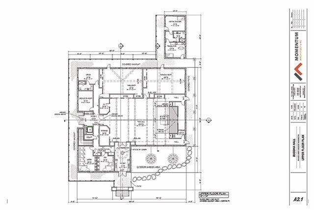 Buddha Hall floor plan-upper