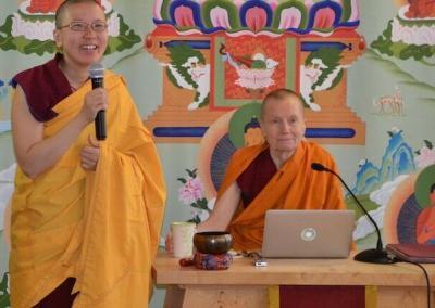 Nun introduces teacher.