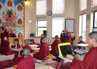 Nuns attend class.