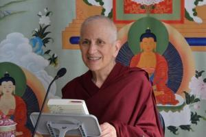 Abbess teaches Buddhism.