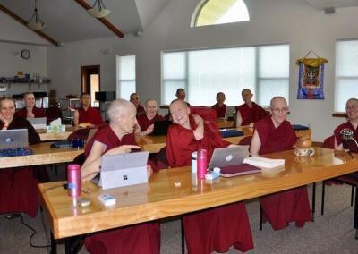 Nuns in class.