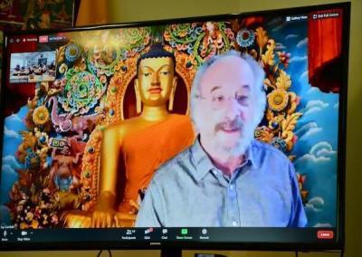 Dr. Jay Garfield teaches on TV.