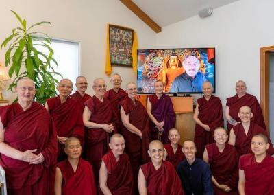 Nuns with Dr. Jay Garfield on TV.
