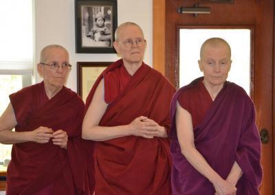 Nuns waiting for teacher.
