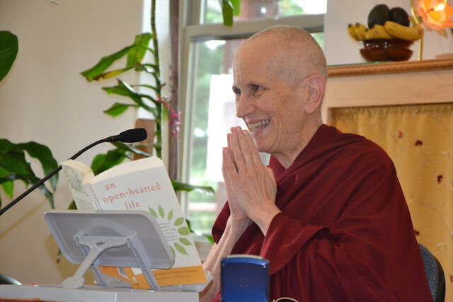 """Abbess teaches from her book """"An Open-Hearted Life."""""""