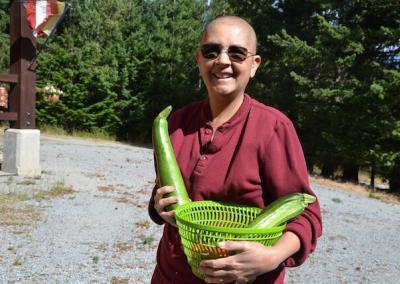 Nun grows zucchinis.