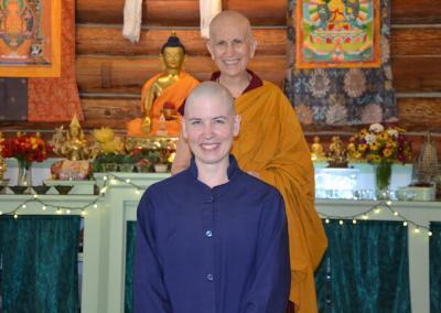 Monastic trainee and preceptor.