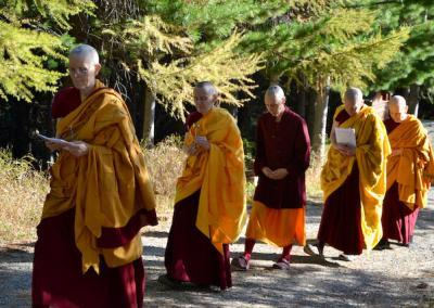 Monastic procession to hall for ordination.
