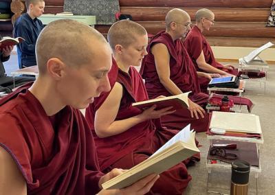 Nuns read books.