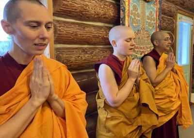 Nuns pray.