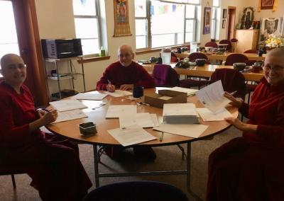 Nuns write letters to thank supporters.