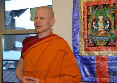 Monk chants.