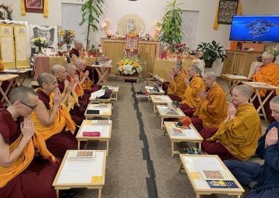 Monastics pray