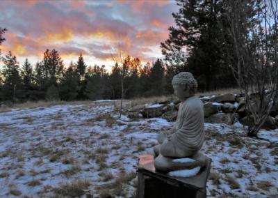 Buddha and sunset.