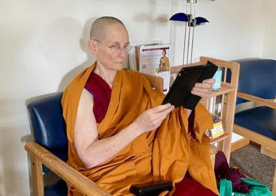 Nun reads ebook