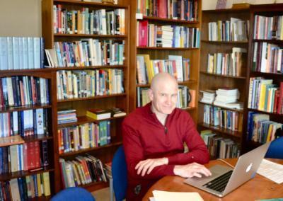Monk studies in library