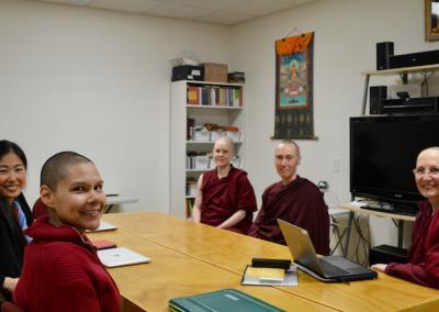 Nuns and guest in class.