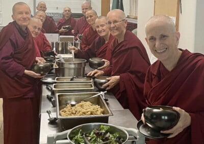 Nuns eat.
