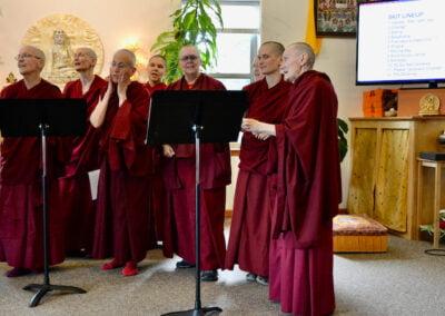 Nuns chant.