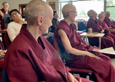 Nuns laugh.