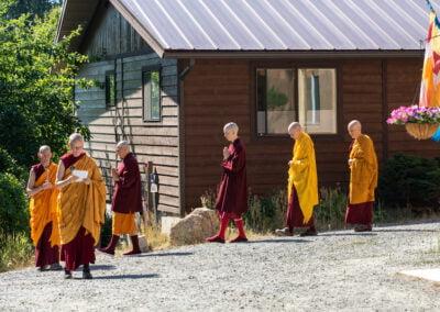 Nuns go to ordination.